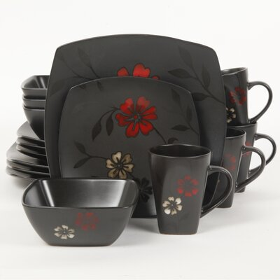 Evening Blossom 16 Piece Dinnerware Set by Gibson