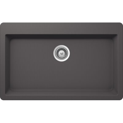 "Montano 33"" x 20.88"" Cristalite Topmount Large Single Bowl Kitchen Sink Product Photo"