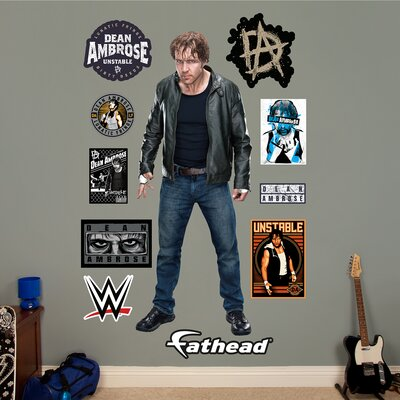wwe dean ambrose peel and stick wall decal wayfair fathead wwe ultimate warrior peel and stick wall decal