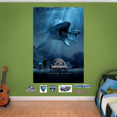 NBC Universal Jurassic World Aquarium Peel and Stick Wall Mural by Fathead