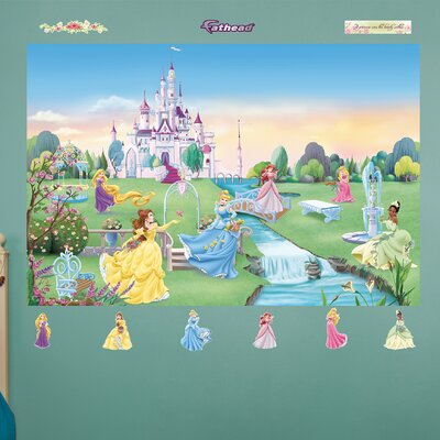 Disney princess wall mural wayfair for Disney princess mini mural