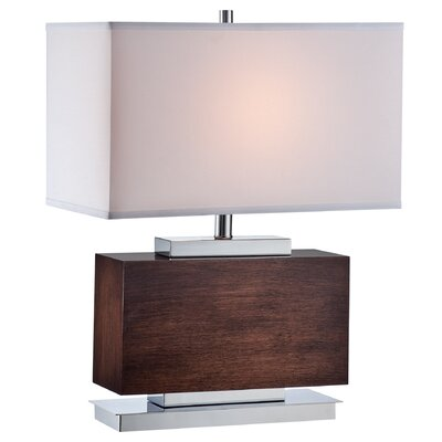 "Lite Source Firminio 23.5"" H Table Lamp with Rectangular Shade"