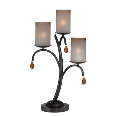 """Lite Source Ainsley 23"""" H Table Lamp with Drum Shade"""