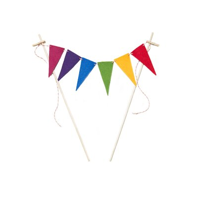Flag Cake Topper by Acme Party