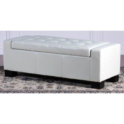 Home Loft Concepts Jarius Leather Storage Ottoman