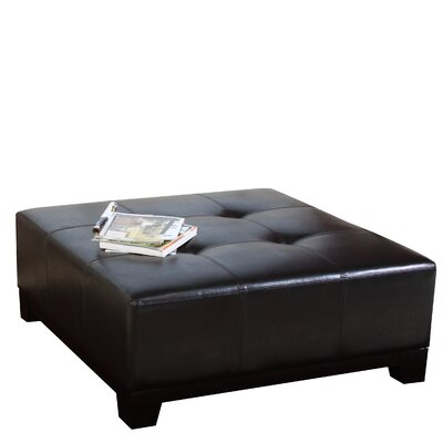 Leather Ottoman by Andover Mills