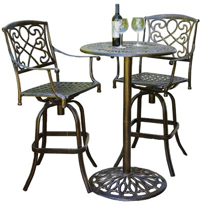 Home Loft Concepts Hearst 3 Piece Bistro Bar Table Set