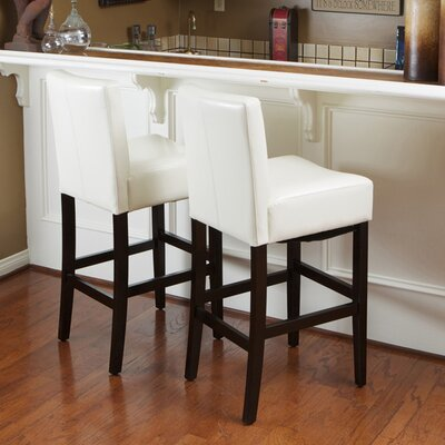 "Home Loft Concepts Georgia 29"" Bar Stool with Cushion"