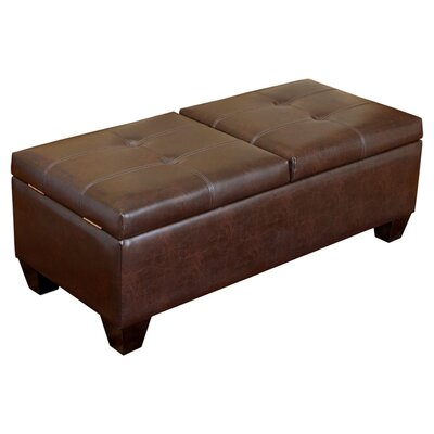 Salas Leather Storage Ottoman by Home Loft Concepts