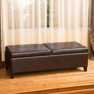 Taren Leather Storage Ottoman by Home Loft Concepts