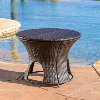 Stephen Wicker Outdoor Round Storage Table by Home Loft Concepts