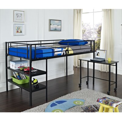 Twin Loft Bed with Desk and Shelf by Home Loft Concepts