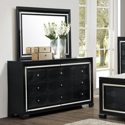 6 Drawer Dresser with Mirror by Hazelwood Home