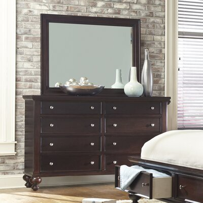 8 Drawer Dresser with Mirror by Hazelwood Home