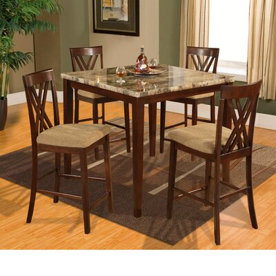 Counter Height 5 Piece Dinette Set by Hazelwood Home