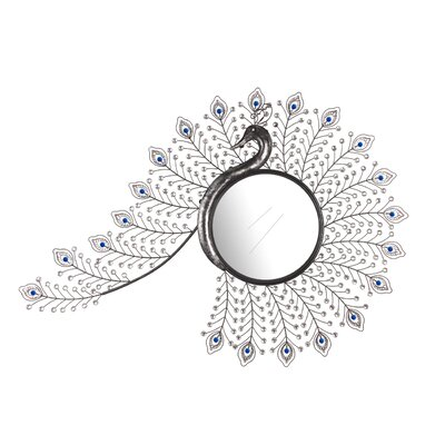 Peacock Inspired Wall Mirror by Hazelwood Home