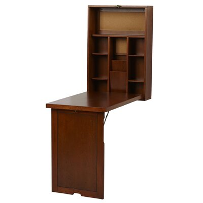 Andover Mills Wall Mounted Fold Up Desk Reviews Wayfair