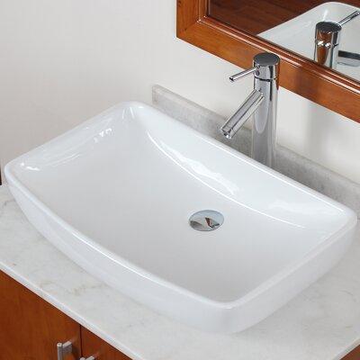 Grade A Ceramic Finsbury Shaped Bowl Vessel Bathroom Sink by Elite