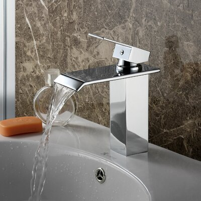 Single Handle Bathroom Waterfall Faucet Product Photo