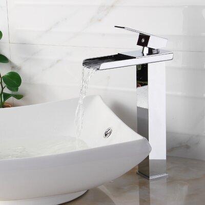 Single Handle Bathroom Waterfall Faucet Product Photo