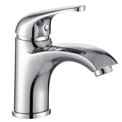 Single Handle Bathroom Faucet with Edged Spout Product Photo