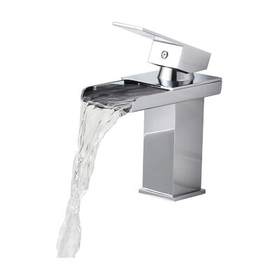 Single Handle Bathroom Sink Waterfall Faucet Product Photo