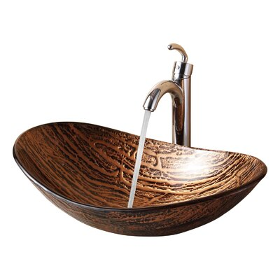 Hot Melted Tree Bark Boat Shaped Vessel Bathroom Sink Product Photo