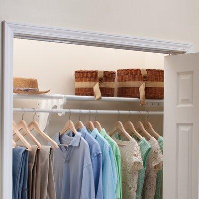 "11.75"" Deep Expandable Closet Rod and Shelf with No End Bracket Product Photo"