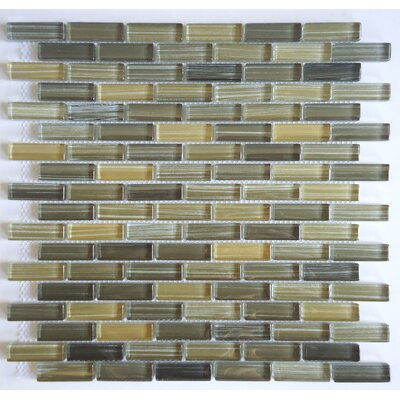 Rosewood Random Sized Glass Mosaic Tile in Multi by Mulia Tile