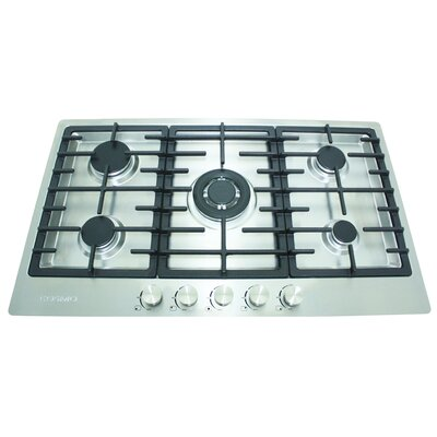 "34"" Gas Cooktop with 5 Burners Product Photo"