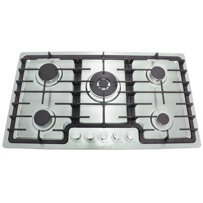 "36"" Gas Cooktop with 5 Burners Product Photo"