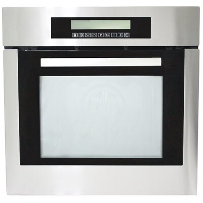 "23.38"" Self Cleaning Electric Single Wall Oven in Black Product Photo"