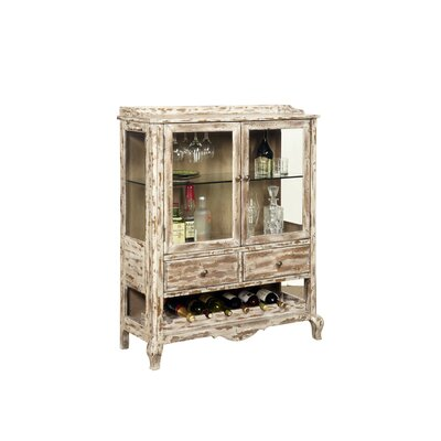 Accents Bar Cabinet with Wine Storage by Pulaski