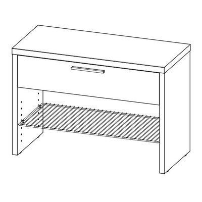 schuhschrank top mit schublade von urban designs. Black Bedroom Furniture Sets. Home Design Ideas