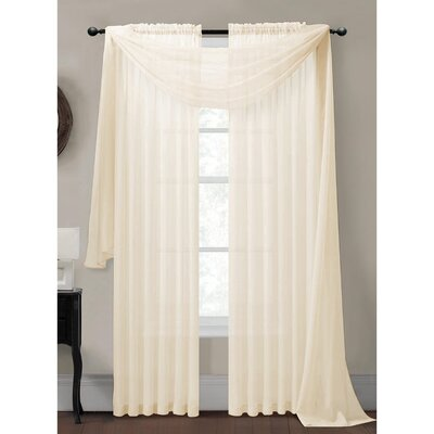 Sheer Solid Voile Single Panel Curtain Scarf Product Photo