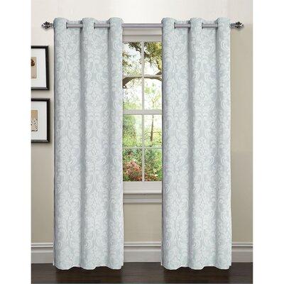 Elinor Linen Blend Jacquard Grommet Curtain Panel (Set of 2) Product Photo