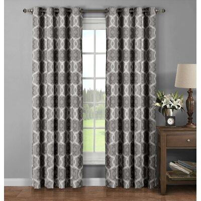 Avila Printed Cotton Extra Wide Grommet Curtain Panel (Set of 2) (Set of 2) Product Photo