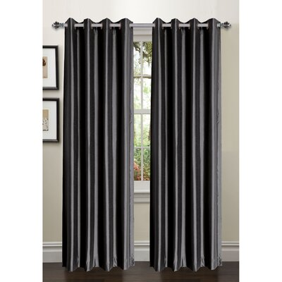 Bliss Faux Silk Room Darkening Curtain Panels (Set of 2) Product Photo