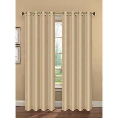 Camilla Faux Silk Room Darkening Lined Curtain Panels (Set of 2) Product Photo