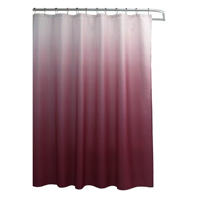 bath studio ombre waffle fabric weave shower curtain