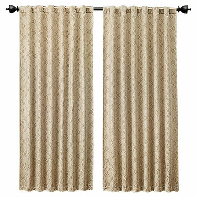 Elaina Trellis Grommet Pocket Curtain Panel Product Photo