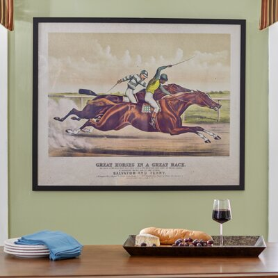 'The Great Race' Framed Wall Art on Canvas by Three Posts