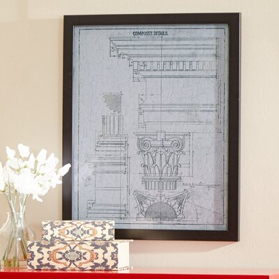 'Composite Details Vintage' Framed Wall Art on Canvas by Three Posts