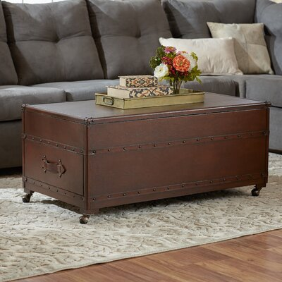 Plaistow Coffee Table Trunk by Three Posts