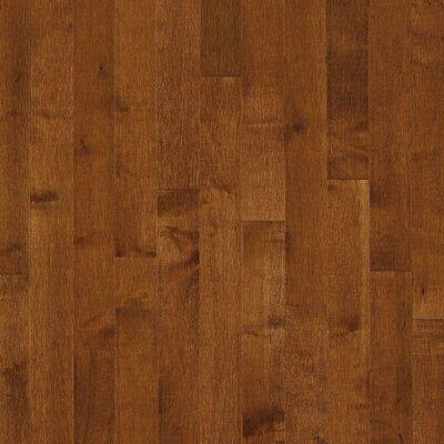 """Forest Valley Flooring SAMPLE - 2.25"""" Solid Dark Maple Flooring in Sumatra"""