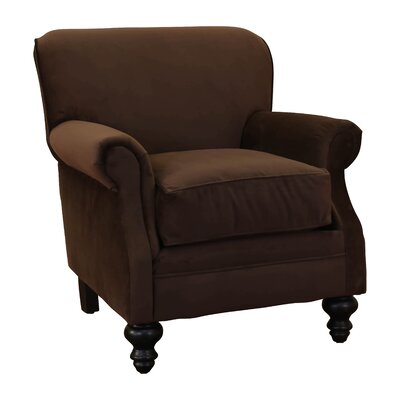 Charles Fabric Rolled Club Chair by Summit Furnishings