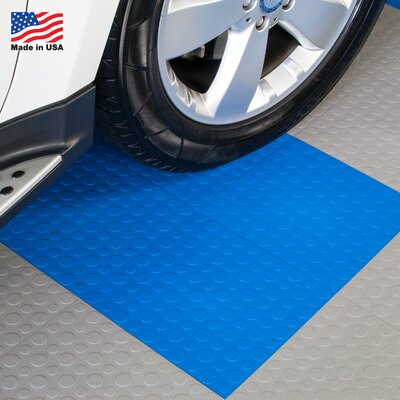 BlockTile 12 X 12 Garage Flooring Tile In Blue Reviews Wa