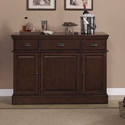 American Heritage Gabriella Bar Cabinet with Wine Storage