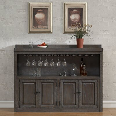 Martino Bar Cabinet with Wine Storage by American Heritage