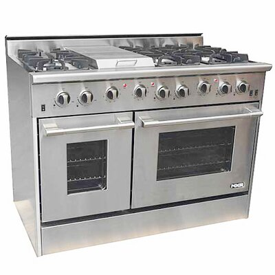 4.2 Cu. Ft. Gas Convection Range in Stainless Steel Product Photo